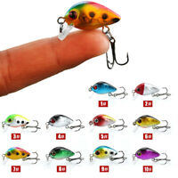 10Pz Esche Artificiali da Pesca Minow 3cm+Scatola Kit Fishing Bait Lures