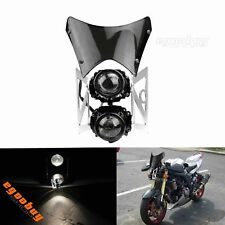 Motorcycle E-mark / DOT Street Fighter Twin Dual Headlight For Madass Kikass KTM