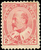 1903 Mint H Canada F Scott #90 2c King Edward VII Issue Stamp