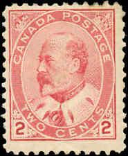 1903 Mint H Canada F Scott #90 2c King Edward VII Issue Stamp
