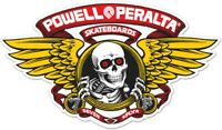 "Powell Peralta Winged Ripper Die Cut RED Clear Skateboard Sticker Decal 5"" New"