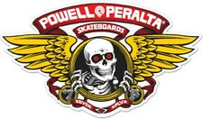 """Powell Peralta Winged Ripper Die Cut RED Clear Skateboard Sticker Decal 5"""" New"""