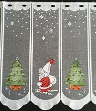 Scheibengardine Bistrogardine Weihnachtsgardine Nikolaus Weihnachten 50 cm weiß