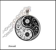 Collar and pendant silver Yin Yang size Pendant 1in unisex Novelty 2016