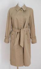 Femme Burberrys trench-coat MAC Veste Beige Taille UK 14 L Grand Excellent