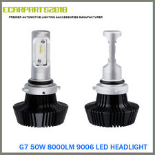 9006 HB4 G7 LED Headlight 50W 8000LM Fanless ZES Chips White 6500K Adjust Beam