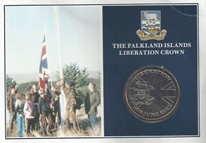 Falkland Islands Fifty Pence 50p 1982 Liberation Crown Official Pack (MD)