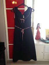 Stop Staring Pink And Black Pinup A Line Dress Sz M Rockabilly