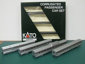 Kato N scale Canadian Pacific  CP Rail  Corrugated Passenger Car set B-1
