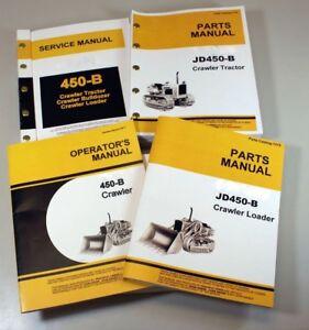 SERVICE MANUAL SET FOR JOHN DEERE 450B CRAWLER LOADER OPERATORS PARTS REPAIR