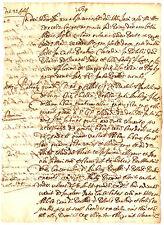 Manoscritto Atto Notarile Pubblico del Comune di Lucignano in Valdichiana 1634