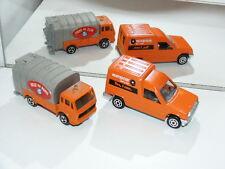 Vintage jouet TOYS Majorette camion poubelle paris renault Express europcar