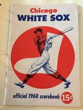 Chicago White Sox vs Detroit Tigers Official 1960 Scorebook Scorecard Program