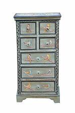 India painted drawer kommode semi-high zartblau