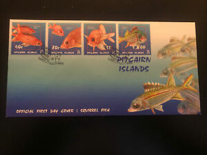 Pitcairn Islands 2003, FDC, Squirrel Fish, Excellent Condition