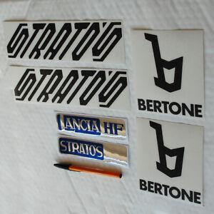 Lancia Stratos Stradale Sticker Set Decals Black cut vinyl & rear printed foil