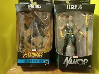 "Marvel Legends Hasbro 6"" Namor & Black Panther m'baku wave action figure lot"