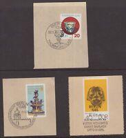 Germany Berlin 3 x circa 1980 postmarks on piece