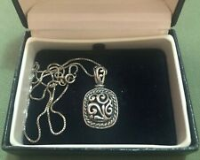 ORNATE 925 STERLING SILVER VINTAGE NECKLACE IN OPENWORK DESIGN - CHAIN ITALY
