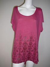 Crossroads Ladies Rose Top T-Shirt Size XXL Tunic Long Back Hem Comfy Casual