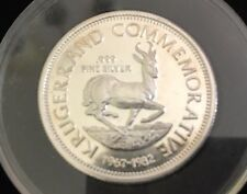 1967-1982 Krugerrand Commemorative Coin Round 22 Grams .80 OZT .999 Fine Silver