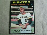 Roberto Clemente 1971 Topps # 630 centered nicely (BV$200)