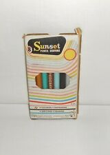 NOS Vintage Hasbro Empire Pencil Co. Box of 8 Sunset Pencil Crayons