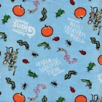 Road Dahls JAMES AND THE GIANT PEACH BLUE Cotton Print by RILEY BLAKE BTY