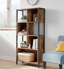 VASAGLE Bücherregal Raumteiler 4 Etagen Aufbewahrungsregal Stahl Holz LBC027B01