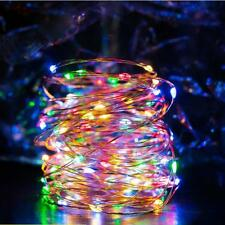 LED Wire Copper String Lights DIY Colorful Lamps USB Waterproof Room Party Decor