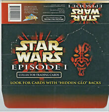 Star Wars Episode 1 - EMPTY CARD BOX - NO PACKS - SHIPPED FLAT - Ikon