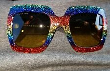 Gucci Women's GG0102S GG/0102/S 005 Multi Glitter Fashion Sunglasses 54mm