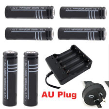 RECHARGEABLE 3.7V 6 x 18650  Li-ion BATTERIES + AU CHARGER HEADLAMP