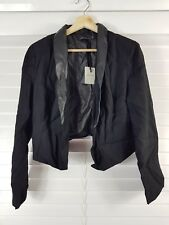 PORTMANS sz 14 womens Black cropped Jacket NEW + TAGS [#987]