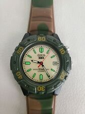 RARE CITIZEN WATCH OXY IGNIS WR10 BAR CAMO WORKING CAMOUFLAGE BAND , BACKLIGHTED