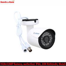 2,0MP AHD Überwachungskamera CCTV Aussen IP66 Full HD 1080P 20M Nachtsicht