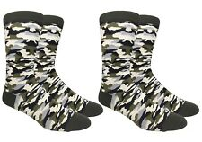 Mens Camouflage Camo Socks Military Army Marine USA Armed Forces - 2 Pairs