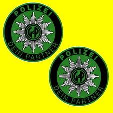 2 POLIZEI GdP AUFKLEBER STICKER INNENAUFKLEBER POLIZEIAUFKLEBER AUTOSTERN AUTO