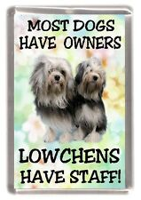 "Lowchen Dog Fridge Magnet  ""Most Dogs Have Owners Lowchens Have Staff"""