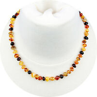 """Adult Baltic Amber Necklace for Women, Men & Adults (Unisex - Multicolor - 18"""")"""