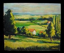Georges LAPCHINE (1885-1950/51) paysage & maisons dans la vallée landscape c1930