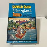 Vintage Jaymar Walt Disneys Donald Duck in Disneyland Puzzle #8617 Adventureland