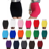 Women Seamless Stretch Tight Sexy Bodycon Mini Skirt Short Pencil Dress HOT