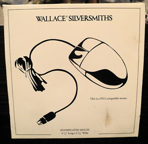 Wallace Silversmiths Silverplated Mouse PS/2 compatible