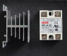 Solid State Relay DC to AC SSR-40DA 40A 250V (3-32VDC To 24-380VAC) + Heat Sink