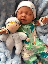 "CHERISH DOLLS CHILDS REBORN STARTER BABY NIAL 18"" 2LB 2OZ NEW UK SLEEPING BABY"
