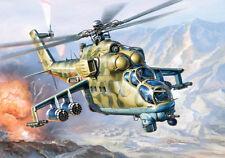 Zvezda 1/144 Mil Mi-24V Hind Soviet Attack Helicopter # 7403