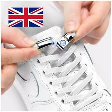 No Tie Magnetic Shoelace for Trainers sneakers Adult Kid White Elastic Laces NEW