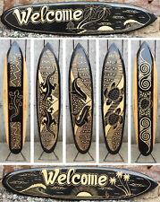 Über 100 Designs im Shop, 160 cm Deko Surfboard aus Holz Surfbrett Schnitzerei