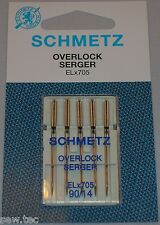 SCHMETZ ELx705 NEEDLES SIZE 14/90  FOR COVELOCK AND OVERLOCK MACHINES PACK OF 5